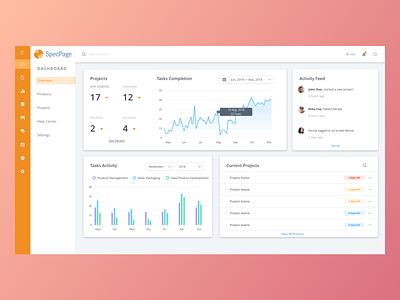 SpecPage – Dashboard Overview interface desktop dashboard ux ui design