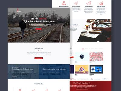 Peppermonkey Media - Website concept ui homepage marketing landing page landing creative agency