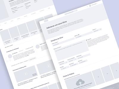 CINE App 🎬— Wireframe minimalist layout challenge design app movie wireframe ui ux