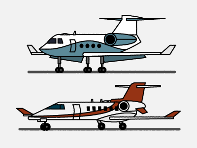 T.I.'s Private Jets jets airline airplanes illustration aviation