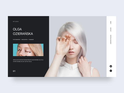 ozieranska interface studio web ui design clean
