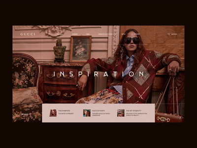 Gucci gucci transitions animation web clean interface ui design