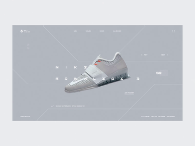 Sneaker Store nike store transitions animation web interface clean design ui
