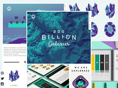 2 0 0 B I L L I O N  G A L A X I E S brand responsive launch web site web design
