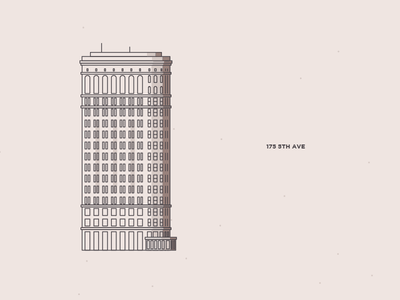 Flatiron building skyscraper manhattan line project illustration york new inktober
