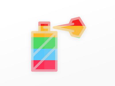 Colors. app ios onboarding rainbow spray colors