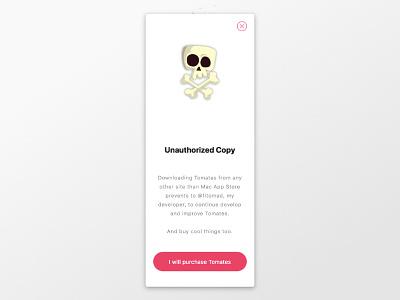 Unauthorized Copy mac app empty space macos mac