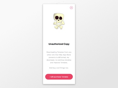 Unauthorized Copy mac app empty space macos mac