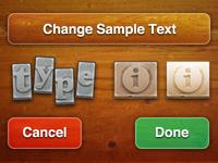 Type Tool UI