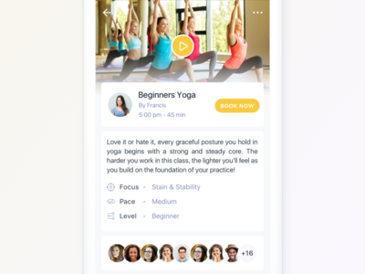 Yoga Class Booking Designs Themes Templates And Downloadable Graphic Elements On Dribbble