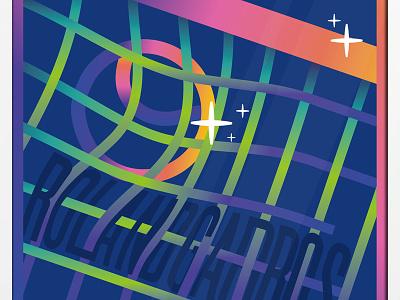 Roland Garros sport typography grottangeles illo illustration match game net slam gradient ball tennis