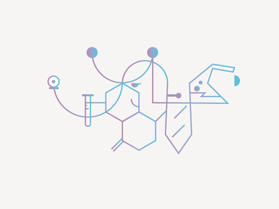 Professional networking medicine healthcare web minimal outline gradient illustration icon ux ui