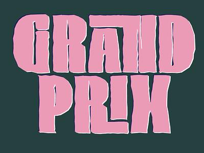 Grand Prix branding vector design logo grottangeles lettering pepo font type typography