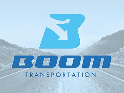 boom transporation logo by felipe mandujano dribbble