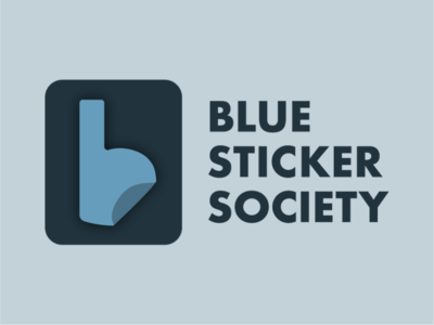 Blue Sticker Society Logo branding nonprofit charity sticker logo design philanthropy