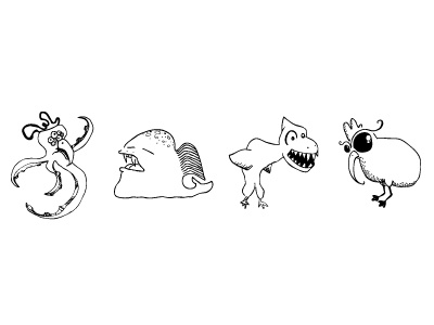 Monster Doodles doodles monsters animals illustration