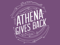 Athena Gives Back t-shirt design