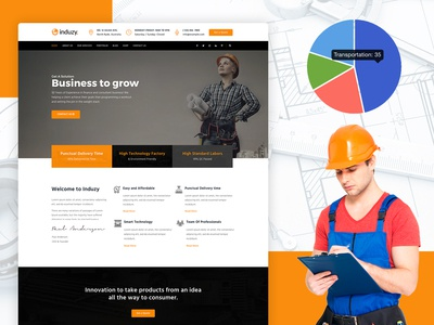 Induzy – Factory & Industrial WordPress Theme