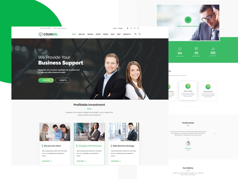 Counsell – Consultancy WordPress Theme popular wordpress themes consultancy minimal creative agency creative business agency wordpress design design web design wordpress theme agency website business