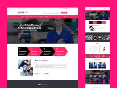 Automotz – Auto Repair Services WordPress Theme web design responsive website wordpress design wordpress theme car repair theme webdesign business responsive design web websites website design website creative design creative