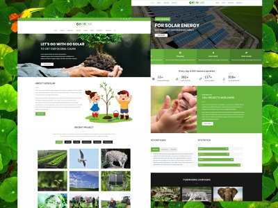 Go Solar – Eco & Nature / Environment WordPress Theme wordpress themes ecology organization charity nature business eco environment design creative design creative responsive design web web developer wordpress theme web designer web design design wordpress design wordpress
