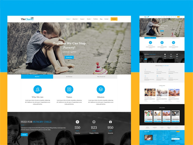 The Charity – Charity / Nonprofit / Fundraising WordPress Theme design wordpress design child wordpress theme wordpress web design and development creative help foundation fund non profit organization donate website design website web design agency web designer web design charity business