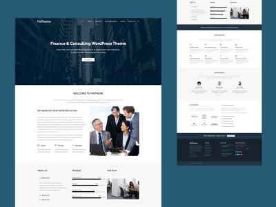 FinTheme - Finance & Consultants WordPress Theme web page dsigner website design web developer analytical audit insurance consulting finance advisor creative design business creative design responsive theme wordpress theme website web design