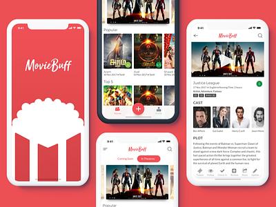 Movie Listing ux ui design exercise justice league splash ios iphone x reviews movie listing