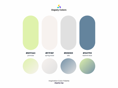 Inspiration Color Palette by Dopely Colors!🍭 white gray blue green vector painting color scheme colors colour graphic design branding logo illustration illustraion colorful ux ui design color palette color