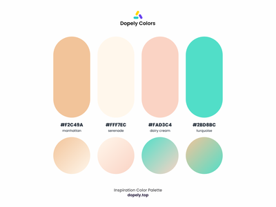 Color Palette for Color Lovers by Dopely Colors!🍭 illustrator graphic design painting vector cream brown blue illustration branding logo illustraion colorful ux ui design color palette color
