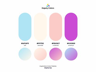 Color Palette for Color Lovers by Dopely Colors!🍭 painting purple pink blue color scheme graphic design colour colors vector branding logo illustration illustraion colorful ux ui design color palette color