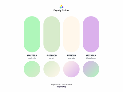 Color Palette for Color Lovers by Dopely Colors!🍭 purple green color scheme color palette colors color colorful gradient