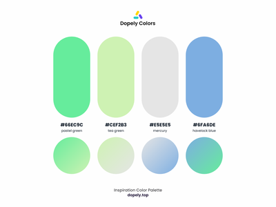 Color Palette for Color Lovers by Dopely Colors!🍭 gray green blue gradient colorful color scheme colors color palette color