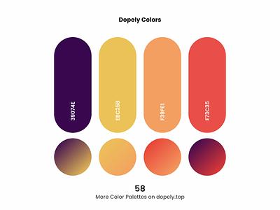 Daily dose of colors!🍭 gradient red orange purple yellow color scheme colors colorful color palette color