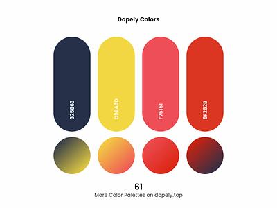 Daily dose of colors. (61)🍭 colour gradients gradient orange red yellow color scheme colors colorful color palette color