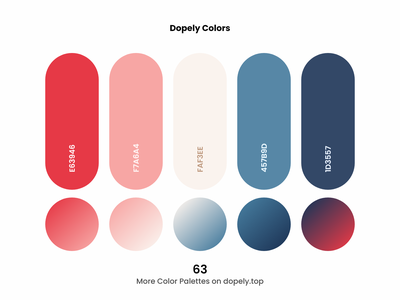 Daily dose of colors. (63)🍭 branding logo illustraion ux ui design painting red blue colour color scheme colors illustration colorful color palette color