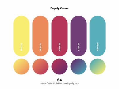 Daily dose of colors. (64)🍭 orange yellow purple blue red color scheme gradient colors branding logo illustration illustraion ux ui design colorful color palette color