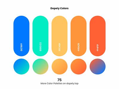 Daily dose of colors. (75)🍭 orange blue gradient gradients color scheme colorpalette colors vector branding logo illustration ux ui design colorful color palette color