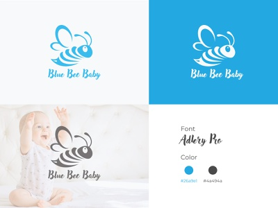 Logo Design for Blue Bee Baby unique design illustration logo design logo iconic logo branding graphicpro3909 graphic design