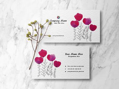 Business Card card floral design floral business card design business card