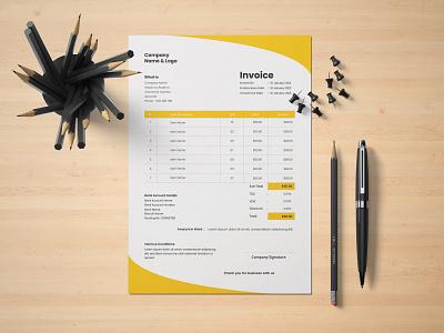 Invoice Design illustrator simple invoice invoices invoicing invoice template invoice design invoice