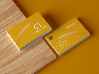 Business Card Design clean vertical corporate identity visiting card business card template colourful business card orange illustrator business card design business card