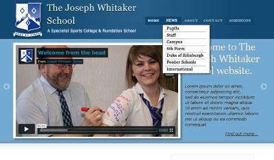 School full site. Preliminary mockup.