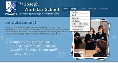 School site slider pane