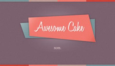 Awesome Cake Bcard