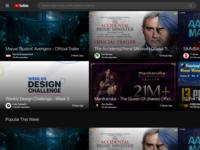 Youtube Re-Design Challenge youtube dark app concept uiux design minimal dashboard