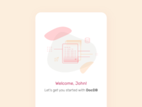 Mobile App Landing Screen UI | Icon experiment ui icons mobile ui landing screen