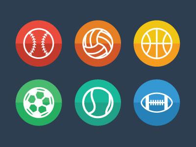 Sports Icons sports icons baseball volleyball basketball soccer tennis football
