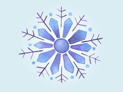 Snowflake painting snowflake watercolor