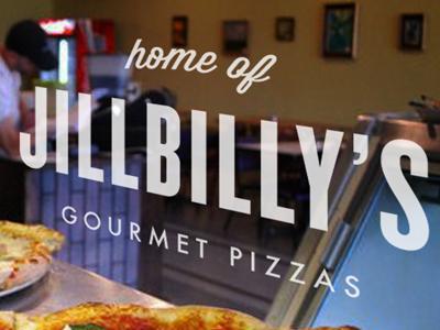 JillBilly pizza type typography wisdom script knockout futura photograph